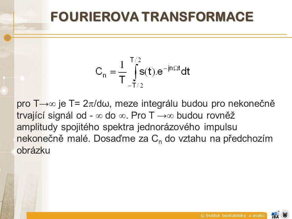 © Institut biostatistiky a analýz pro T→  je T= 2  /dω, meze integrálu budou pro nekonečně trvající signál od -  do .
