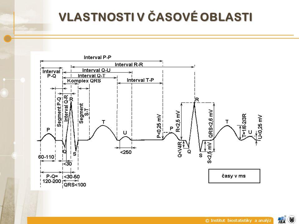 © Institut biostatistiky a analýz VLASTNOSTI V Č ASOVÉ OBLASTI
