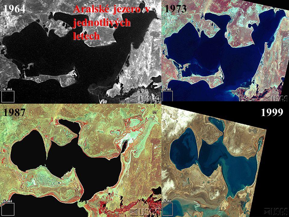 19641973 19871999 Aralské jezero v jednotlivých letech