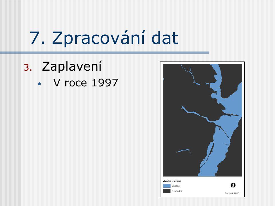 7. Zpracování dat 3. Zaplavení V roce 1997