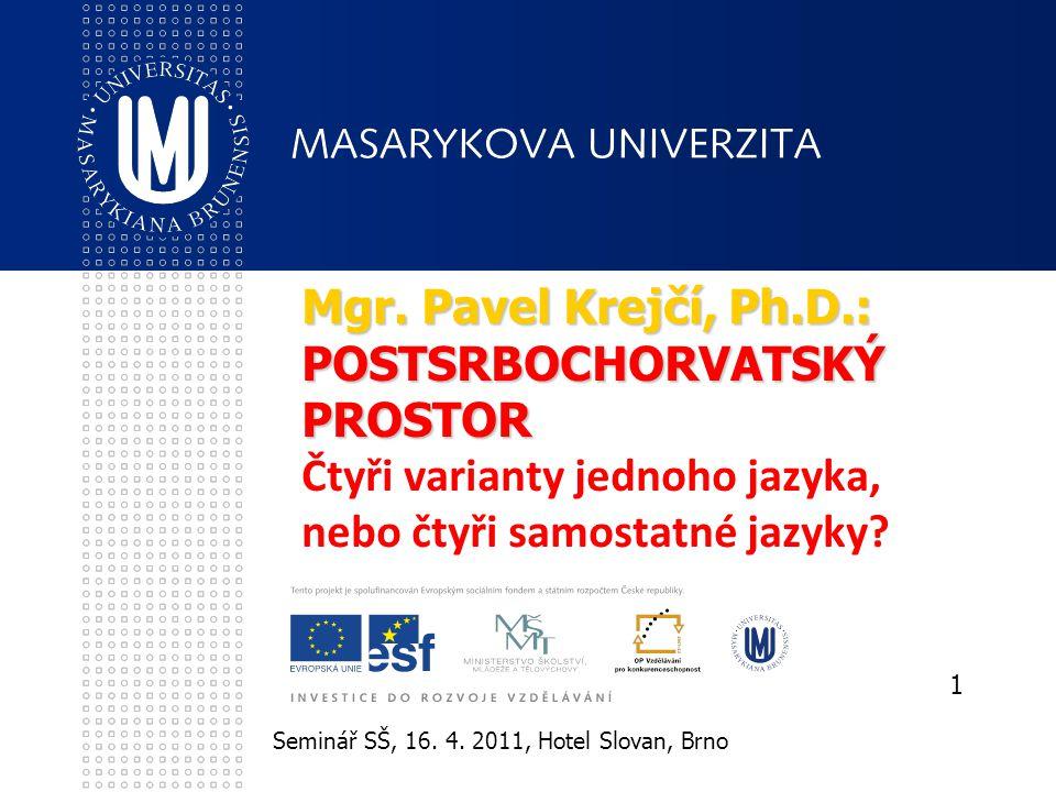 Seminář SŠ, 16.4. 2011, Hotel Slovan, Brno 1 Mgr.
