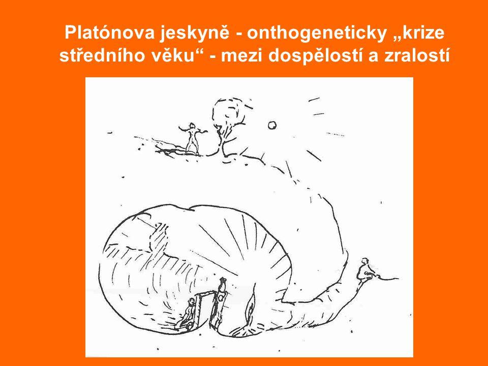 """Platónova jeskyně - onthogeneticky """"krize středního věku - mezi dospělostí a zralostí"""