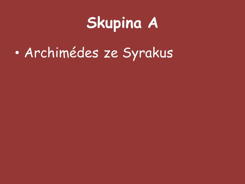 Skupina A Archimédes ze Syrakus