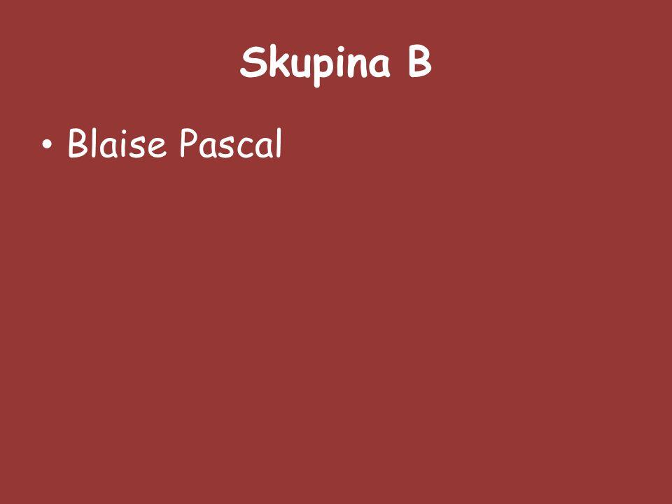 Skupina B Blaise Pascal
