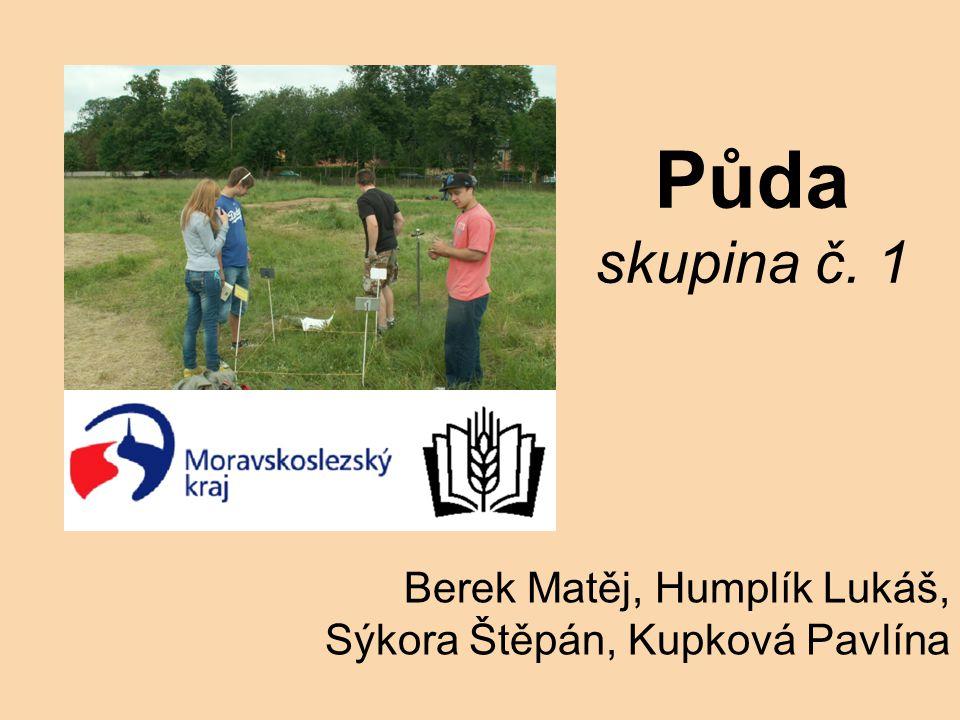 Půda skupina č. 1 Berek Matěj, Humplík Lukáš, Sýkora Štěpán, Kupková Pavlína