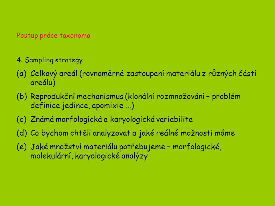 Postup práce taxonoma 4.
