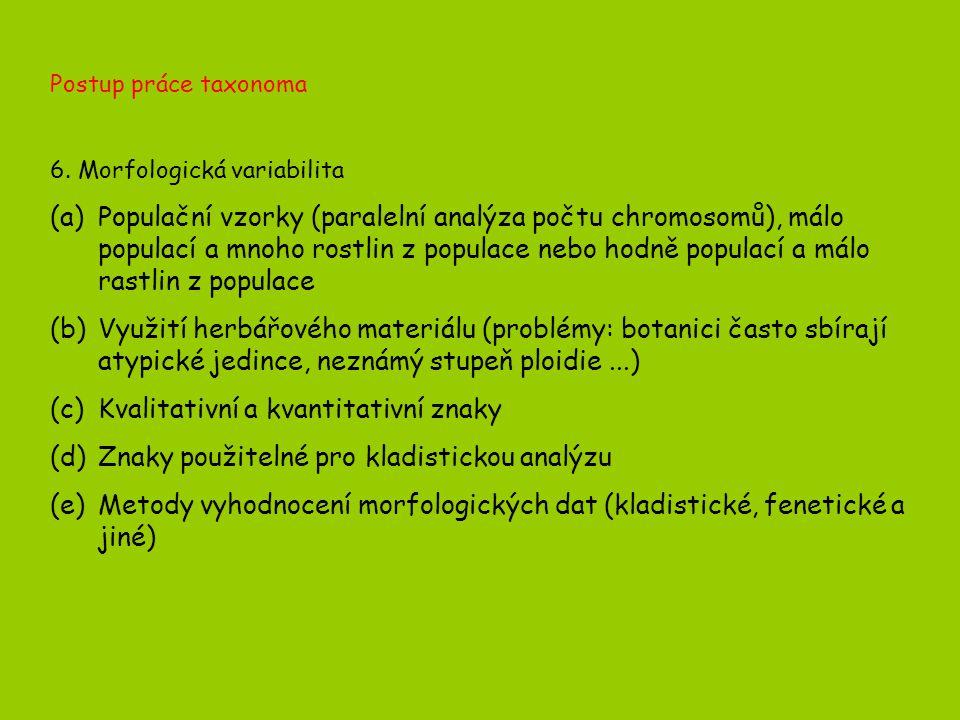 Postup práce taxonoma 6.
