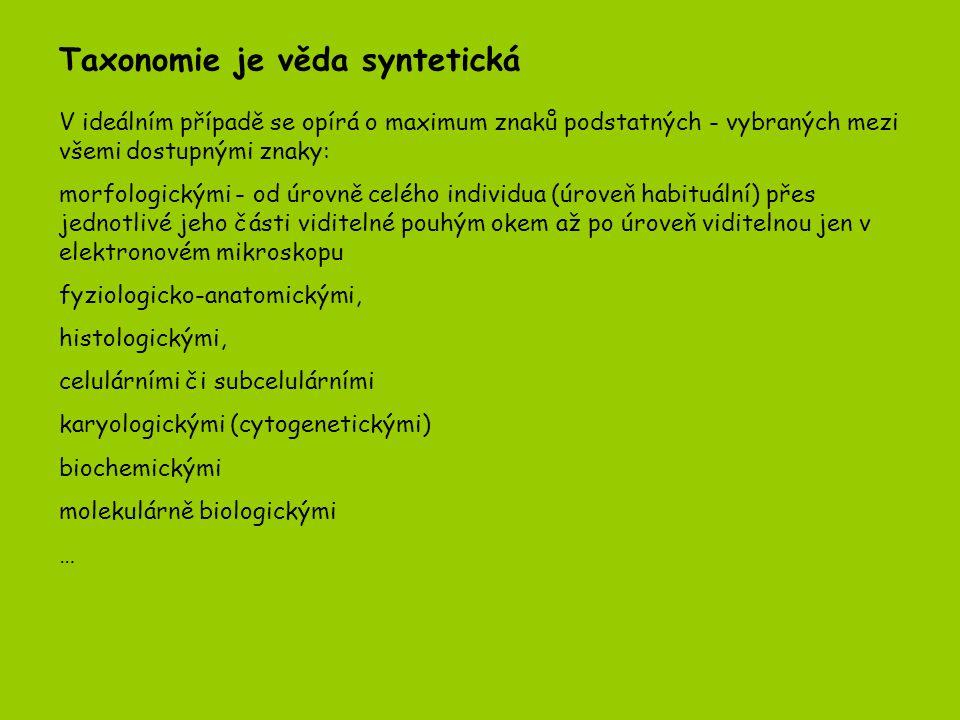 Postup práce taxonoma 7.