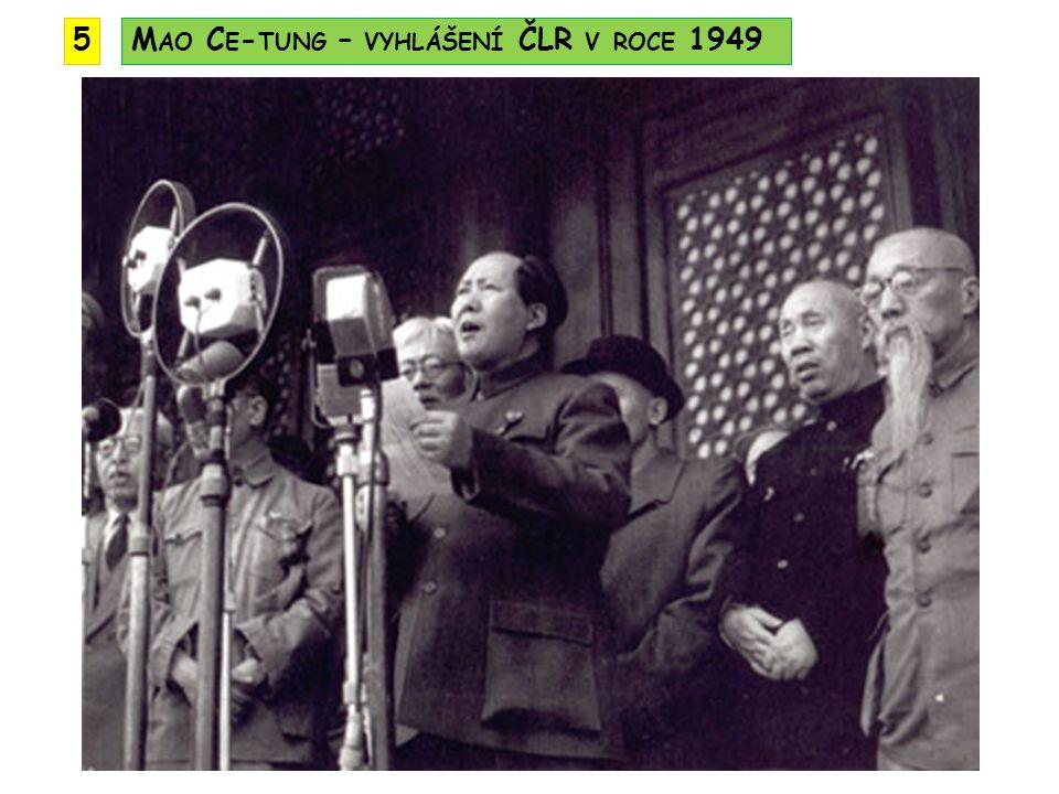 M AO C E - TUNG – VYHLÁŠENÍ ČLR V ROCE 19495