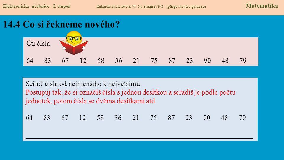 14.4 Co si řekneme nového.Elektronická učebnice - I.