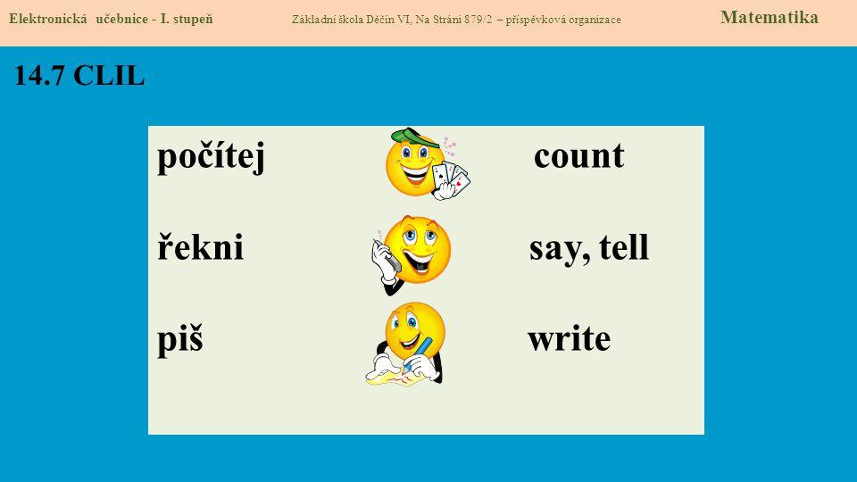 14.8 Test znalostí Správné odpovědi: 1.d 2.a 3.b 4.b Test na známku Elektronická učebnice - I.
