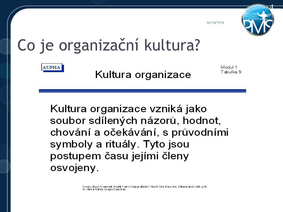Co je organizační kultura 24/04/2015 4