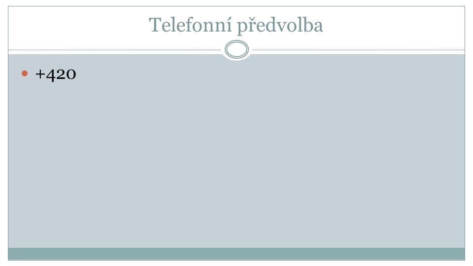 Telefonní předvolba +420