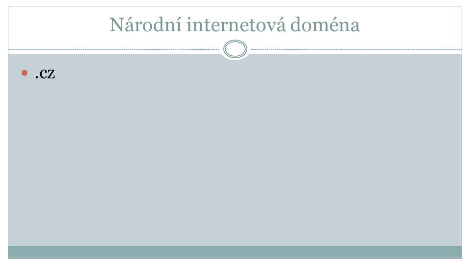 Národní internetová doména.cz