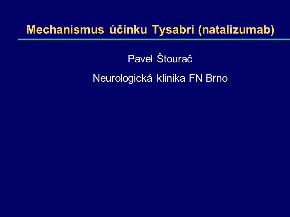 Mechanismus účinku Tysabri (natalizumab) Pavel Štourač Neurologická klinika FN Brno