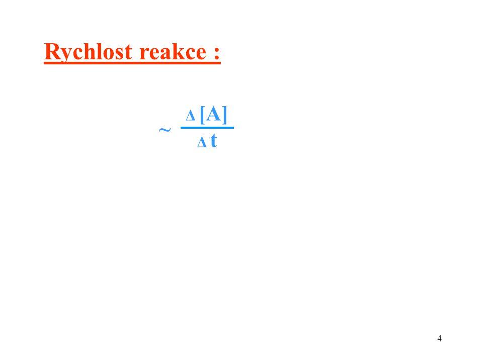 15 [A][A] t rovnovážná reakce