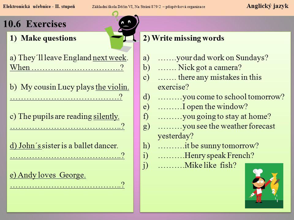 10.7 Question tags Elektronická učebnice - I.