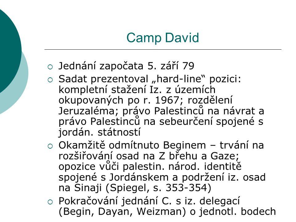 Camp David  Jednání započata 5.