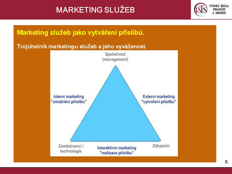 6.6. MARKETING SLUŽEB