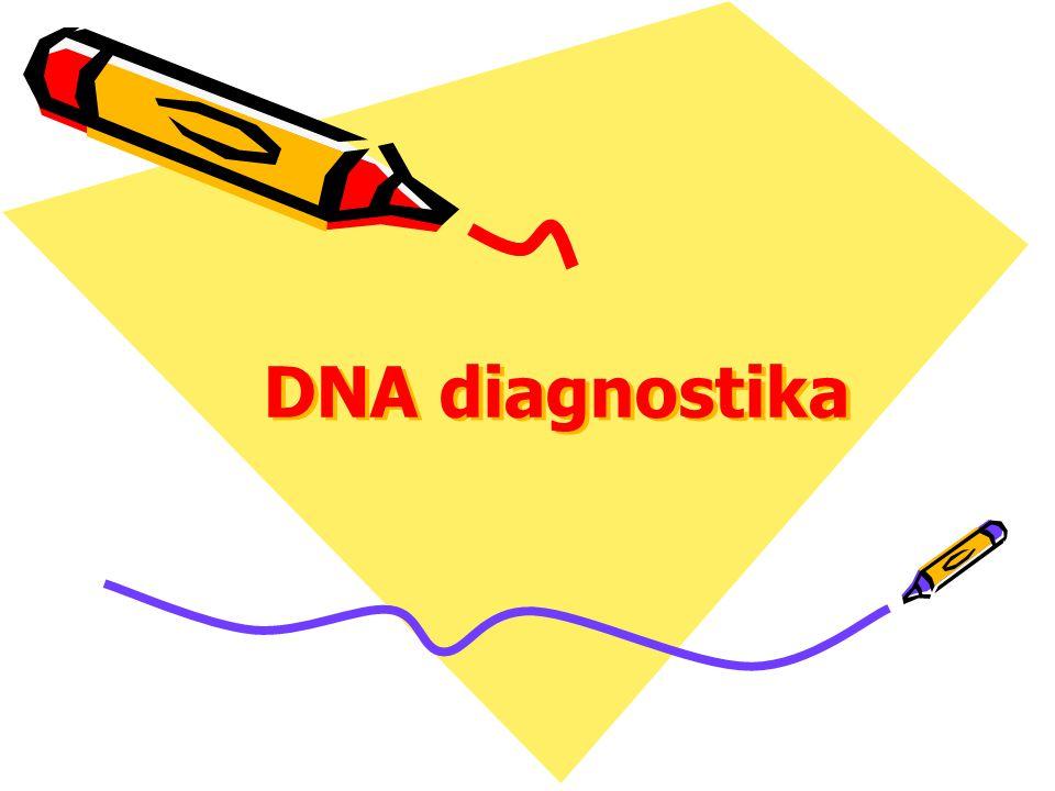 Kompletní analýzy Lokalizace a celá sekvence genu je známá Mutace genu jsou neznámé Vyšetření členů rodiny je nezbytné