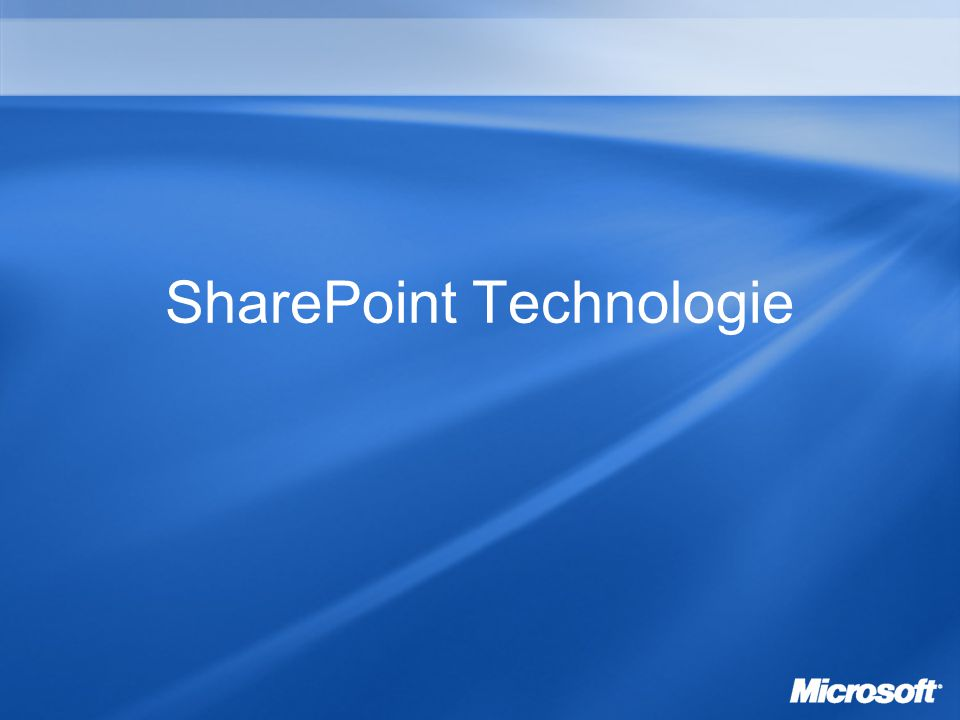 SharePoint Technologie