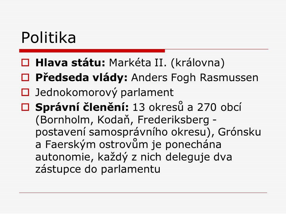 Politika  Hlava státu: Markéta II.