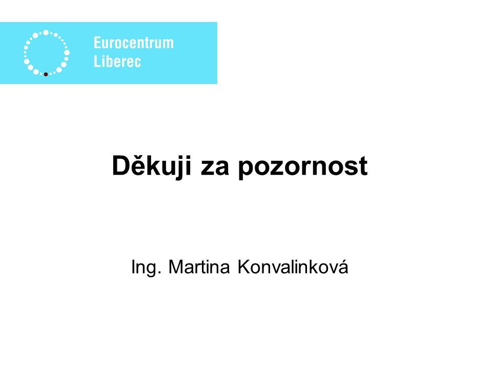 Děkuji za pozornost Ing. Martina Konvalinková