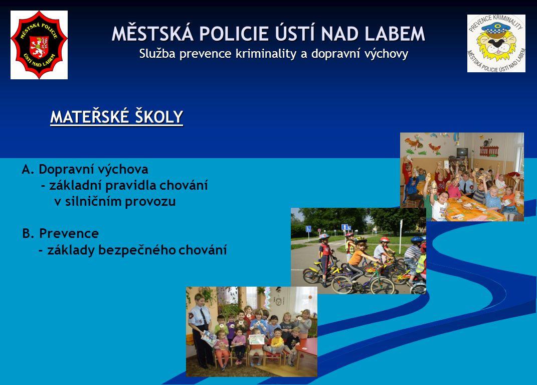 MĚSTSKÁ POLICIE ÚSTÍ NAD LABEM MĚSTSKÁ POLICIE ÚSTÍ NAD LABEM Služba prevence kriminality a dopravní výchovy Služba prevence kriminality a dopravní výchovy ZÁKLADNÍ ŠKOLY – II.