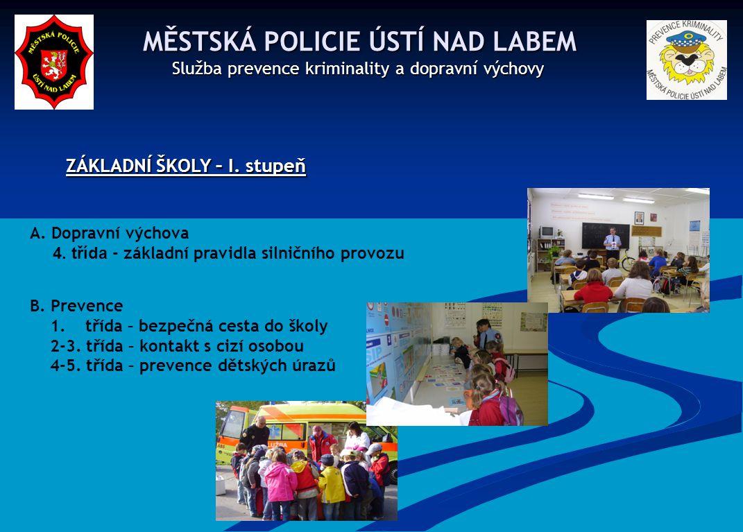 MĚSTSKÁ POLICIE ÚSTÍ NAD LABEM MĚSTSKÁ POLICIE ÚSTÍ NAD LABEM Služba prevence kriminality a dopravní výchovy Služba prevence kriminality a dopravní vý
