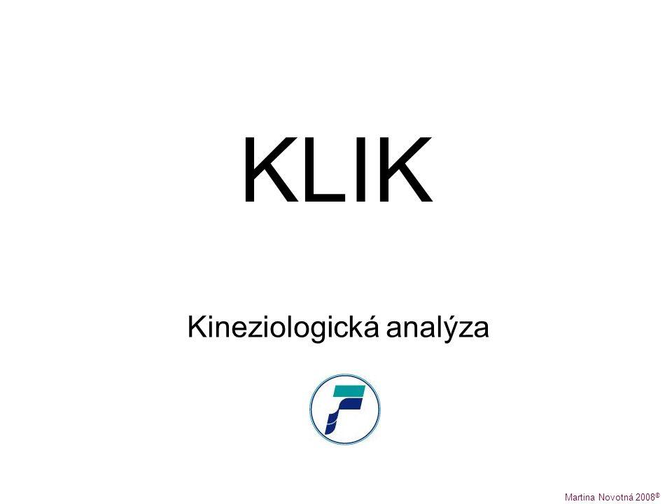 KLIK Kineziologická analýza Martina Novotná 2008 ©