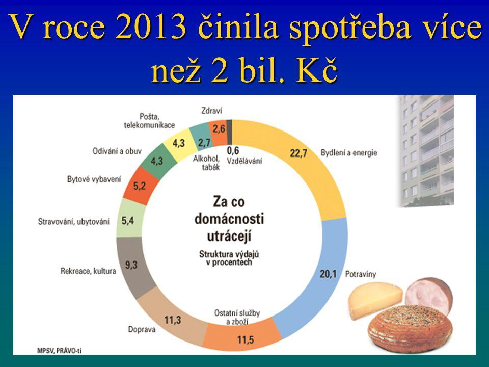 V roce 2013 činila spotřeba více než 2 bil. Kč