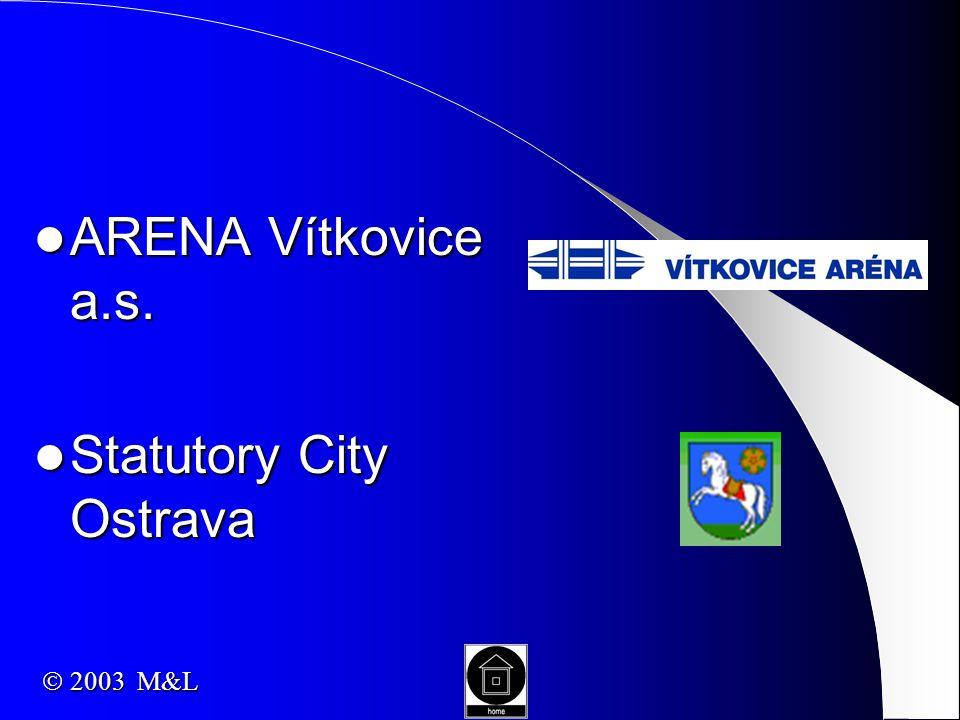ARENA Vítkovice a.s. ARENA Vítkovice a.s. Statutory City Ostrava Statutory City Ostrava  2003 M&L