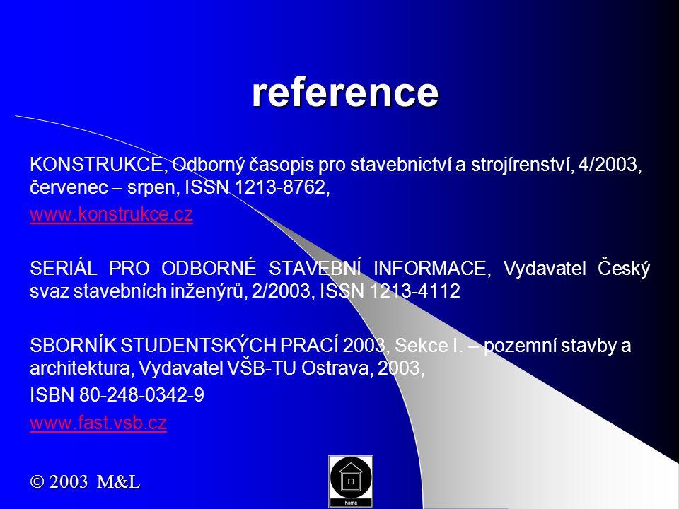 reference KONSTRUKCE, Odborný časopis pro stavebnictví a strojírenství, 4/2003, červenec – srpen, ISSN 1213-8762, www.konstrukce.cz SERIÁL PRO ODBORNÉ