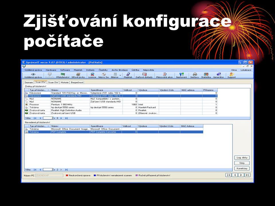 Zjišťování konfigurace počítače