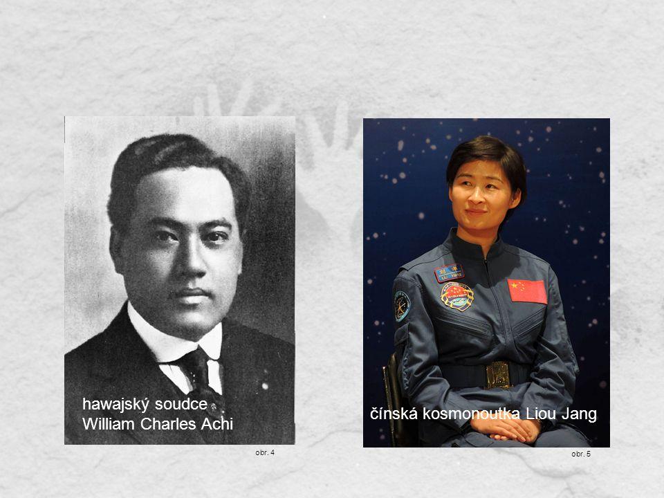 hawajský soudce William Charles Achi čínská kosmonoutka Liou Jang obr. 4 obr. 5