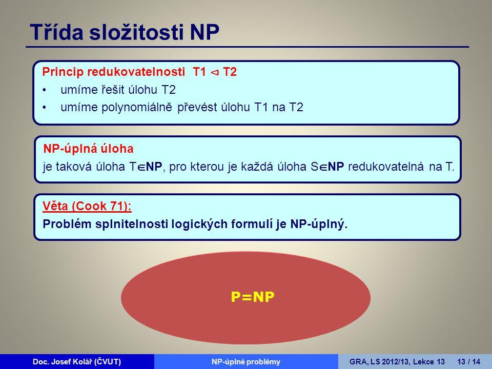 Doc. Josef Kolář (ČVUT)Prohledávání grafůGRA, LS 2010/11, Lekce 4 13 / 15Doc.