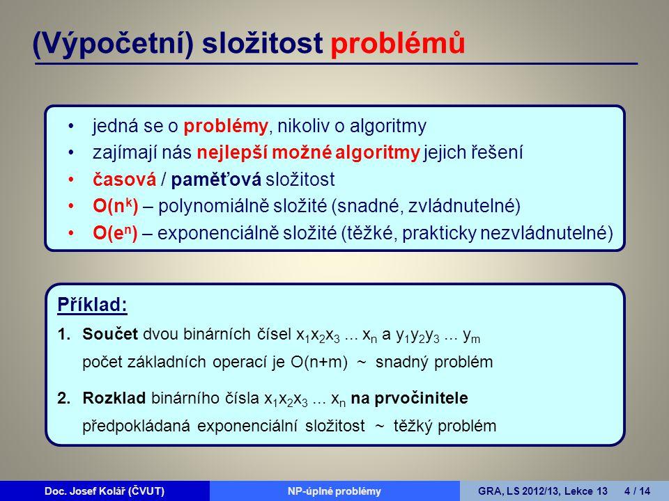 Doc.Josef Kolář (ČVUT)Prohledávání grafůGRA, LS 2010/11, Lekce 4 15 / 15Doc.