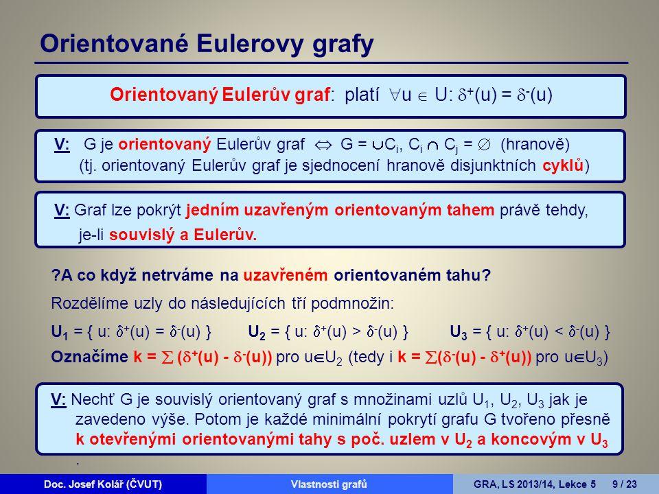 Doc.Josef Kolář (ČVUT)Prohledávání grafůGRA, LS 2010/11, Lekce 4 10 / 15Doc.