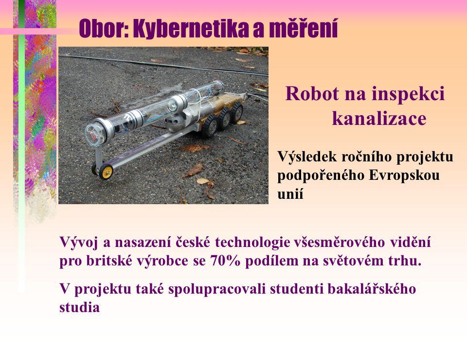 Robot na inspekci kanalizace Výsledek ročního projektu podpořeného Evropskou unií Vývoj a nasazení české technologie všesměrového vidění pro britské výrobce se 70% podílem na světovém trhu.