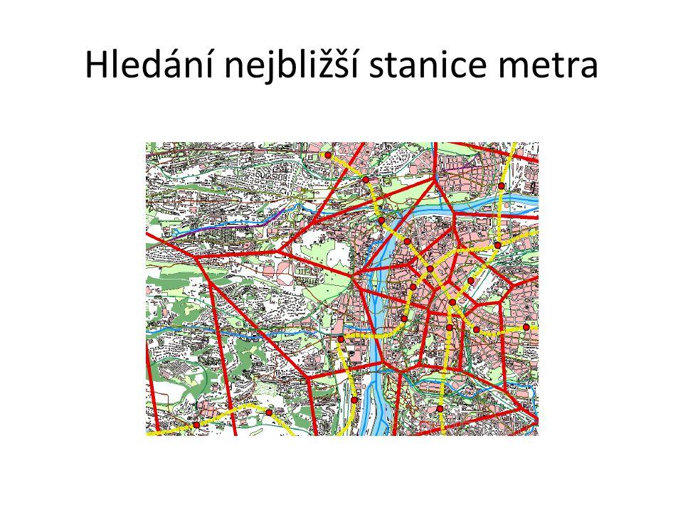Hledání nejbližší stanice metra