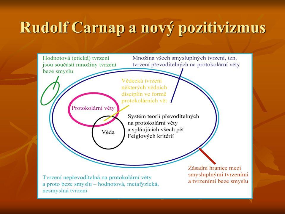 Rudolf Carnap a nový pozitivizmus