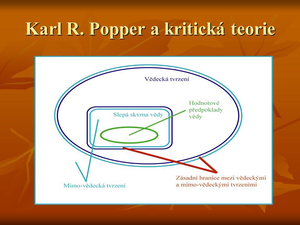 Karl R. Popper a kritická teorie