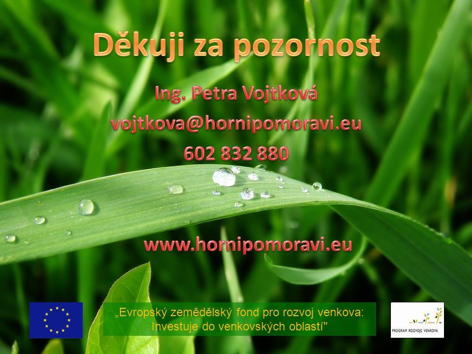"""""""Evropský zemědělský fond pro rozvoj venkova: Investuje do venkovských oblastí"""