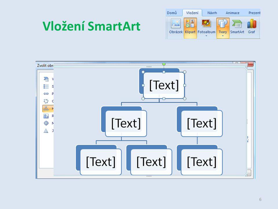 Vložení SmartArt 6