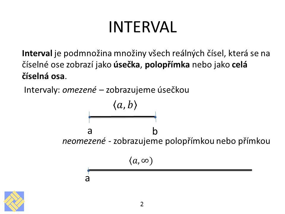 INTERVAL 2 a b
