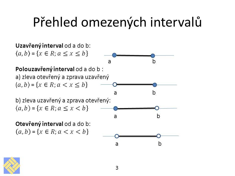 Přehled omezených intervalů 3