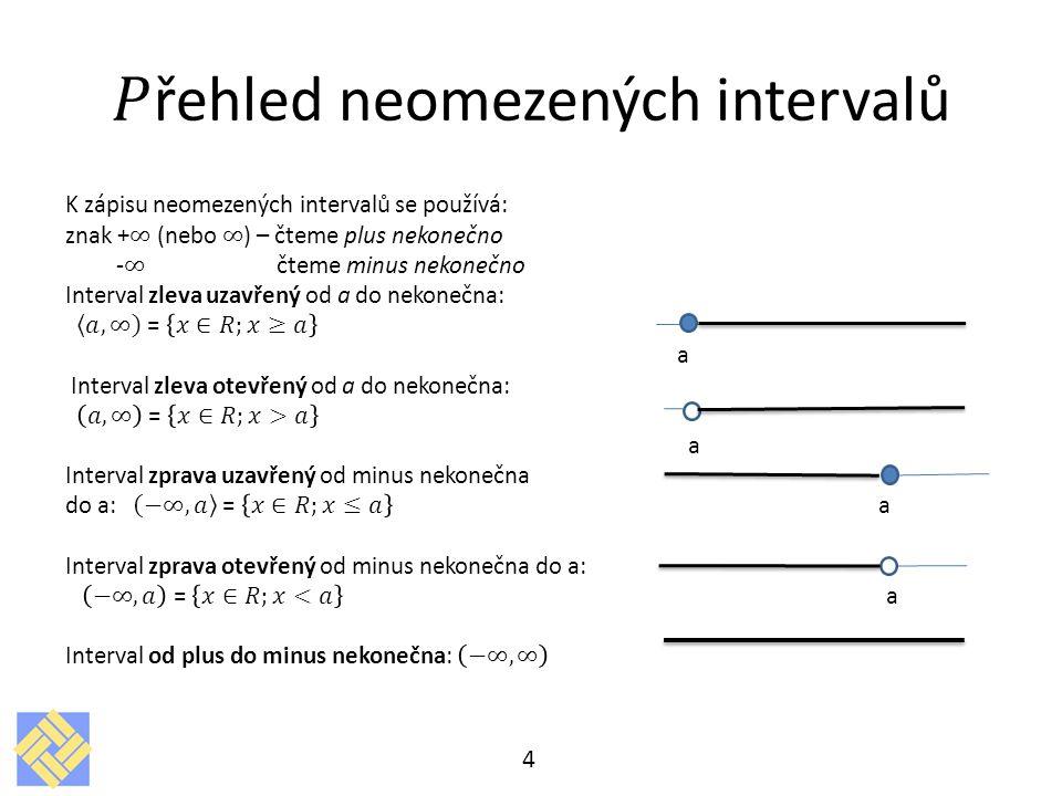 Sjednocení a průnik intervalů 5