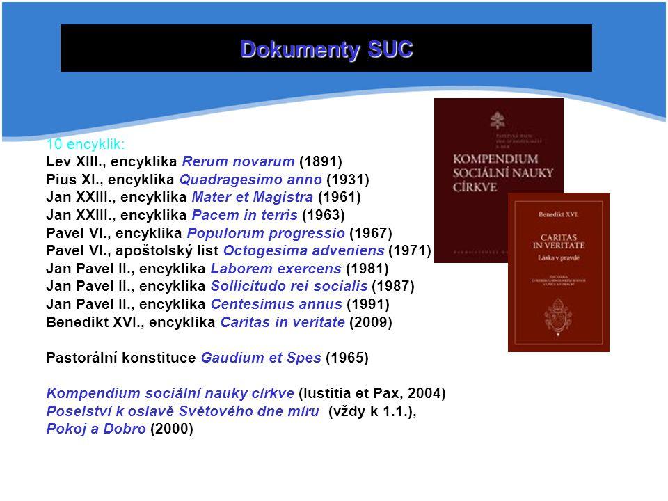 Stoleté dějiny katolické sociální nauky lze rozdělit do čtyř základních vývojových fází: - První fáze zahrnuje přípravu, vznik a dopad encykliky Lva XIII.