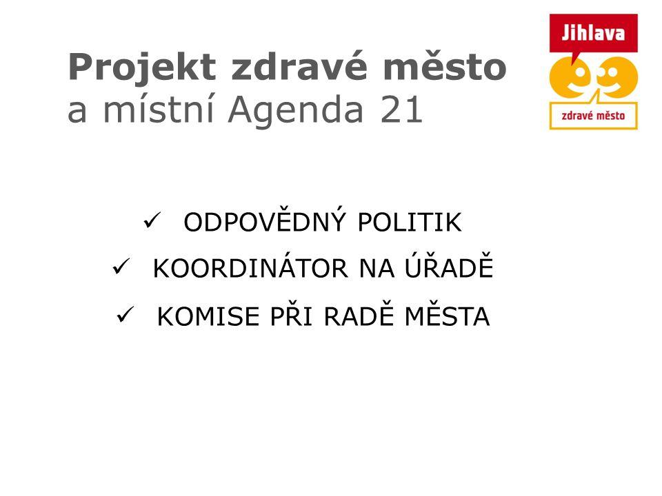 Projekt zdravé město a místní Agenda 21 ODPOVĚDNÝ POLITIK KOORDINÁTOR NA ÚŘADĚ KOMISE PŘI RADĚ MĚSTA