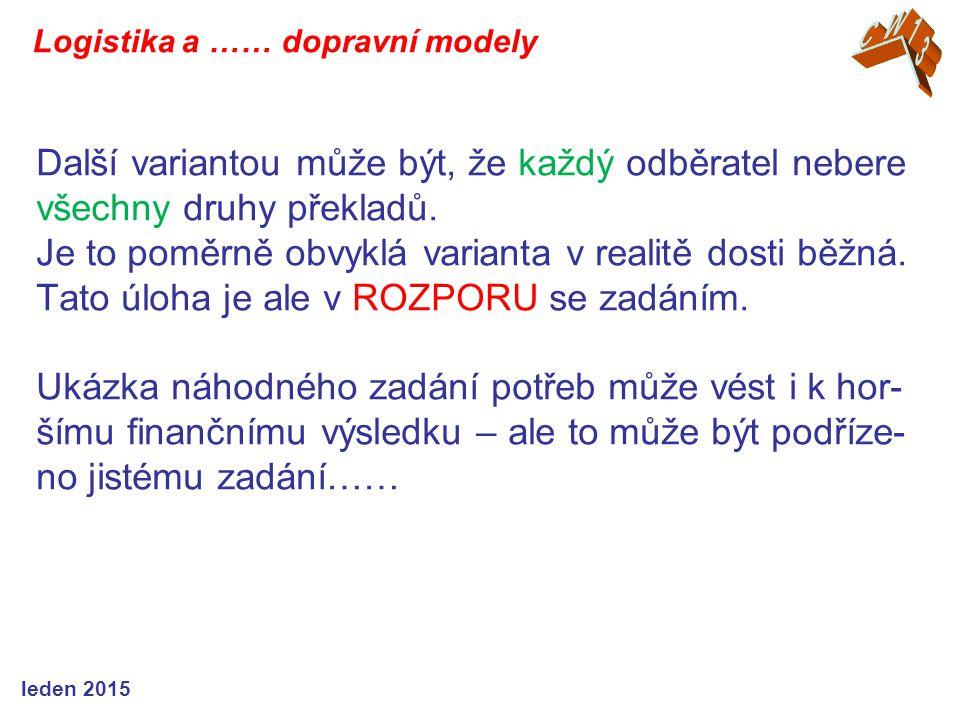 Další variantou může být, že každý odběratel nebere všechny druhy překladů. Je to poměrně obvyklá varianta v realitě dosti běžná. Tato úloha je ale v